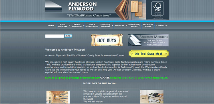 Antelope Vallley - Website designed by TAP Solutions www.TAPSolutions.net Non-Responsive Website