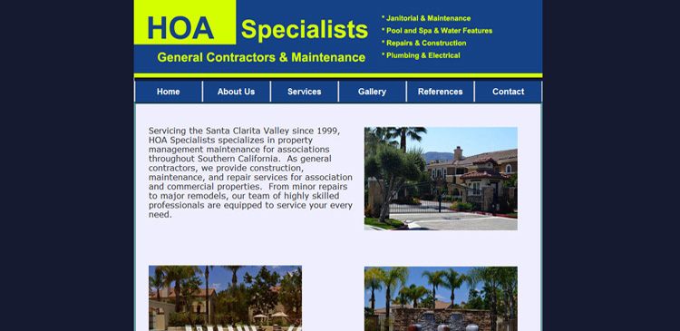 Santa Clarita Vallley - SCV - Website designed by TAP Solutions www.TAPSolutions.net Non-Responsive Website