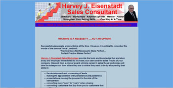 website created for Harvey Eisenstadt Sales Consultant | http://www.tapsolutions.net