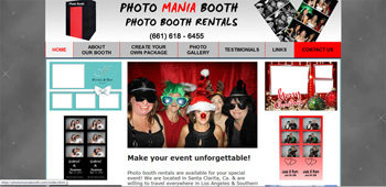 Photo Booth Rentals Temecula, Website Designed, ReDesigned & Maintained Photo Booth Rentals Temecula  https://photomaniabooth.com/index.html  Website Design Temecula, Temecula Website Design , http://www.tapsolutions.net | (818) 281-7628 | Temecula Website Development and Designed