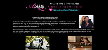 Wedding Photographers < CITY>, Website Designed, ReDesigned & Maintained Wedding Photographers < CITY>  http://abbysphotography.net/ Affordable Website Design Agoura Hills, Affordable Website Re-design In Agoura Hills CA.,(818) 281-7628  http://www.tapsolutions.net