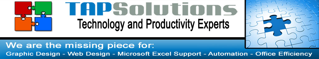 Tap Solutions - Technology and Productivity Solutions - Specializes In Affordable Excel Support and Training Poway, Poway Microsoft Excel service and Affordable Excel Expert Support In Poway CA. http://www.tapsolutions.net (818) 281-7628