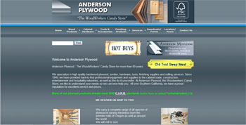 website for Anderson Plywood | Castaic | Culver City | http://www.tapsolutions.net |Santa Clarita Website Development and Designed