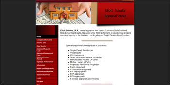 site developed for Appraiser Eliott | Antelope Valley | http://www.tapsolutions.net | Website Development and Designed